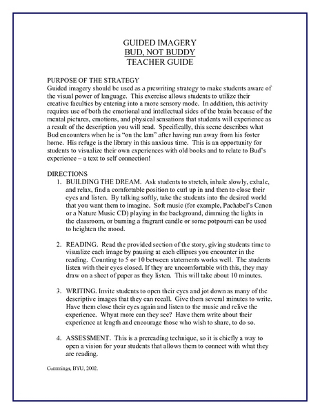 Thesis Essay Example  Good Thesis Statement Examples For Essays also University English Essay Bud Not Buddy Guided Imagery Exercise Lesson Plan For Th  Spm English Essay