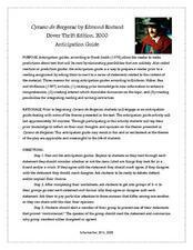Cyrano do Bergerac Anticipation Guide Lesson Plan