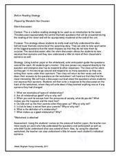 Flipped: A Before Reading Strategy Lesson Plan