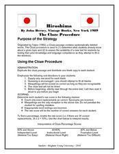 Hiroshima: The Cloze Procedure Worksheet