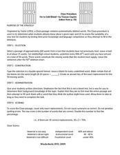 In Cold Blood: Cloze Procedure Worksheet