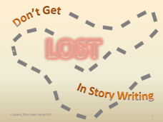 Don't Get Lost in Story Writing: Story Maps Presentation