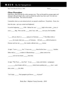 MAUS Cloze Procedure  Worksheet