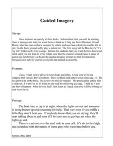 Monster: Guided Imagery Lesson Plan