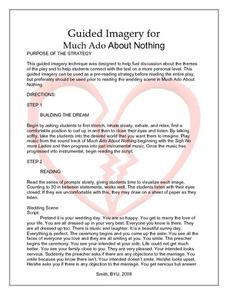 much ado about nothing guided imagery exercise lesson plan for 12th rh lessonplanet com guided imagery exercises for pain guided imagery exercises sports