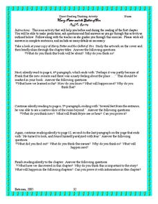 Direct Reading Thinking Activity Harry Potter and the Goblet of Fire Worksheet