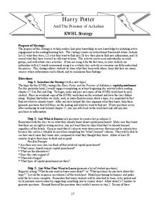 Harry Potter And The Prisoner of Azkaban: KWHL Strategy Lesson Plan