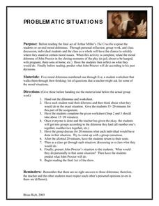 The Crucible: Problematic Situations Lesson Plan