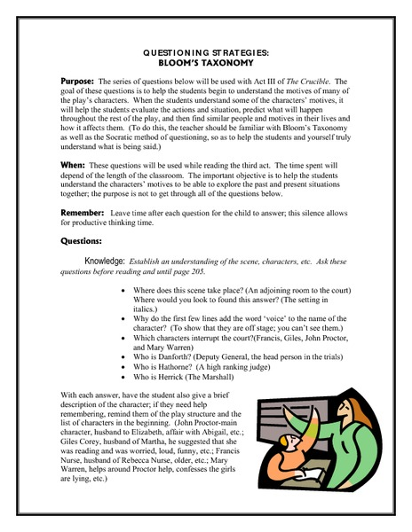 Blooms Taxonomy Lesson Plans Worksheets Reviewed By Teachers