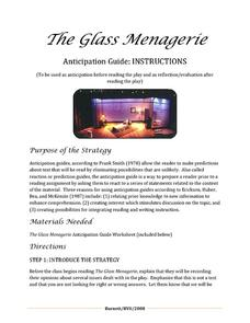The Glass Menagerie: Anticipation Guide Lesson Plan