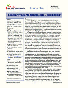 Flower Power: An Introduction to Heredity Lesson Plan