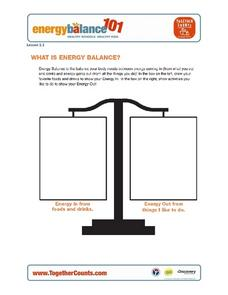 Energy Balance 101 - What is Energy Balance? Worksheet