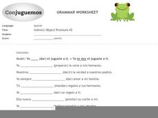 Indirect Object Pronouns #2 Worksheet