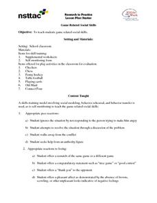 Game Related Social Skills Lesson Plan