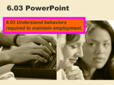 Understanding Behaviors Required to Maintain Employment Presentation