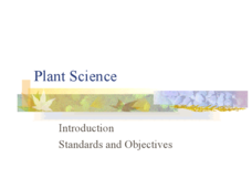 Plant Science Introduction Presentation