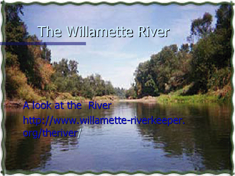 The Willamette River Presentation