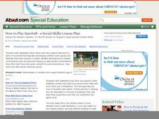 How to Play Baseball a Social Skills Lesson Lesson Plan