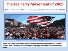 The Tea Party Movement 2009 Presentation