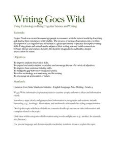 Writing Goes Wild Lesson Plan