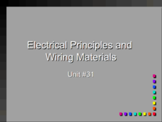 Electrical Principals and Wiring Materials Presentation