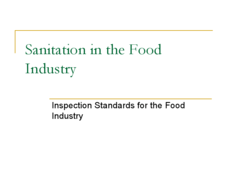 Sanitation in the Food Industry Presentation