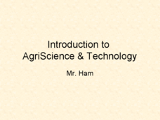 Introduction to AgriScience and Technology Presentation
