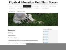 Physical Education Unit Plan: Soccer - Lesson 1 Lesson Plan