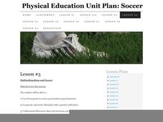 Physical Education Unit Plan: Soccer - Lesson 3 Lesson Plan