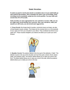 Static Stretches Lesson Plan