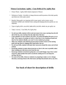 Fitness Curriculum Agility - Cone Drills & Pro Agility Run Lesson