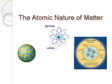 The Atomic Nature of Matter Presentation