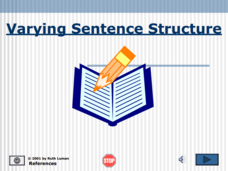 Varying Sentence Structure Presentation