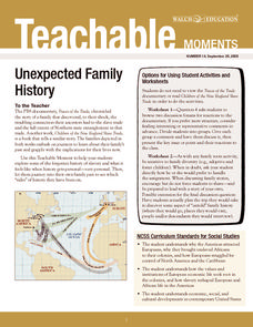 Unexpected Family History Lesson Plan