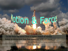 Motion and Forces Presentation