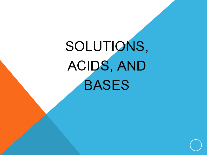 Solutions, Acids, and Bases Presentation