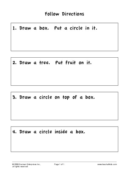follow directions worksheet for 2nd grade lesson planet. Black Bedroom Furniture Sets. Home Design Ideas
