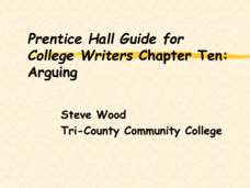 Guide for College Writers: Arguing Presentation