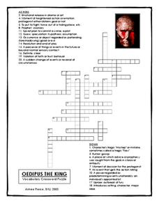 oedipus the king vocabulary crossword puzzle worksheet for 9th higher ed lesson planet. Black Bedroom Furniture Sets. Home Design Ideas