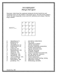 Things Fall Apart: Vocabulary Worksheet