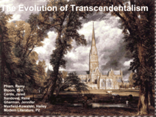 The Evolution of Transcendentalism Presentation