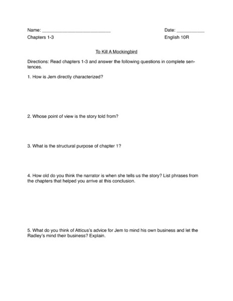 Nuclear Family Essay To Kill A Mockingbird Essay Questions And Answers Studying To Kill A  Mockingbird This Guide Is Essay On Ramayana also Example Of Essay About Education To Kill A Mockingbird Essay Questions And Answers  College Paper  Essays Written For You