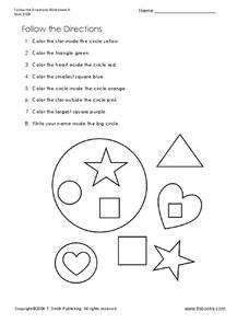 Follow the Directions Worksheet
