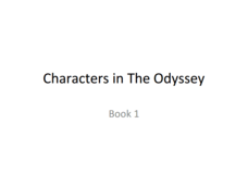 Characters in the Odyssey Book 1  Presentation