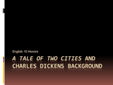 A Tale of Two Cities and Charles Dickens Background Presentation