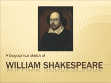 A Biographical Sketch of William Shakespeare Presentation