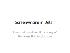 Screenwriting Presentation