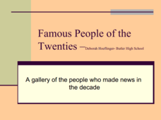 Famous People of the Twenties Presentation