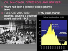 The Crash and The New Deal Presentation