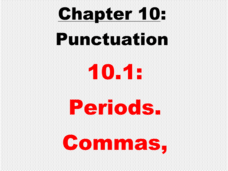 Punctuation: Periods. Commas, Presentation